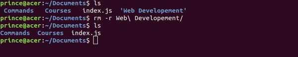 rm -r linux command