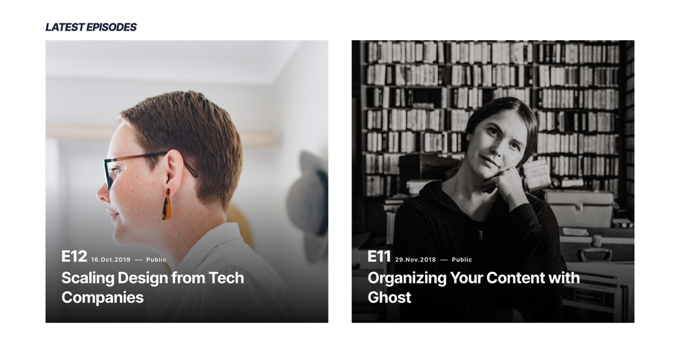 Home Podcasts section