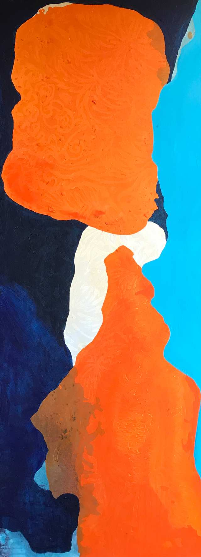 Abstract Scapes The Village Rock, acrylic on canvas