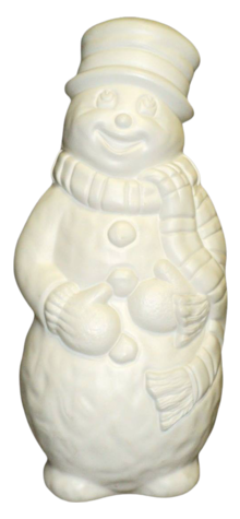 Unpainted Snowman photo