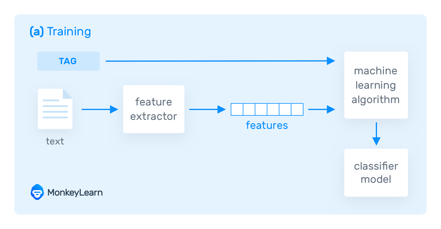Training process in Text Classification