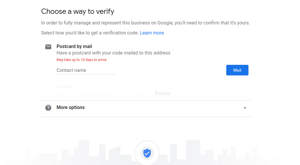 Business to Google My Business Verification