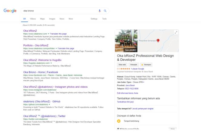 Cara Halaman Pertama Pada Hasil Pencarian Google