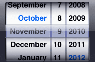 Nowhere outside of iOS do you interact with a calendar like this