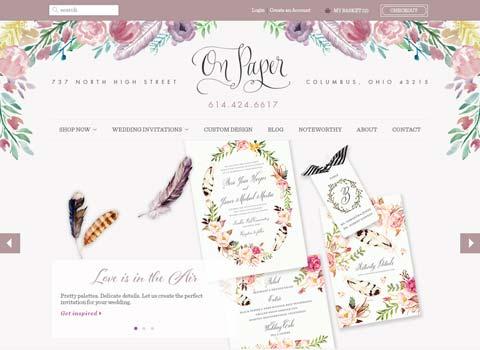 On Paper website screenshot
