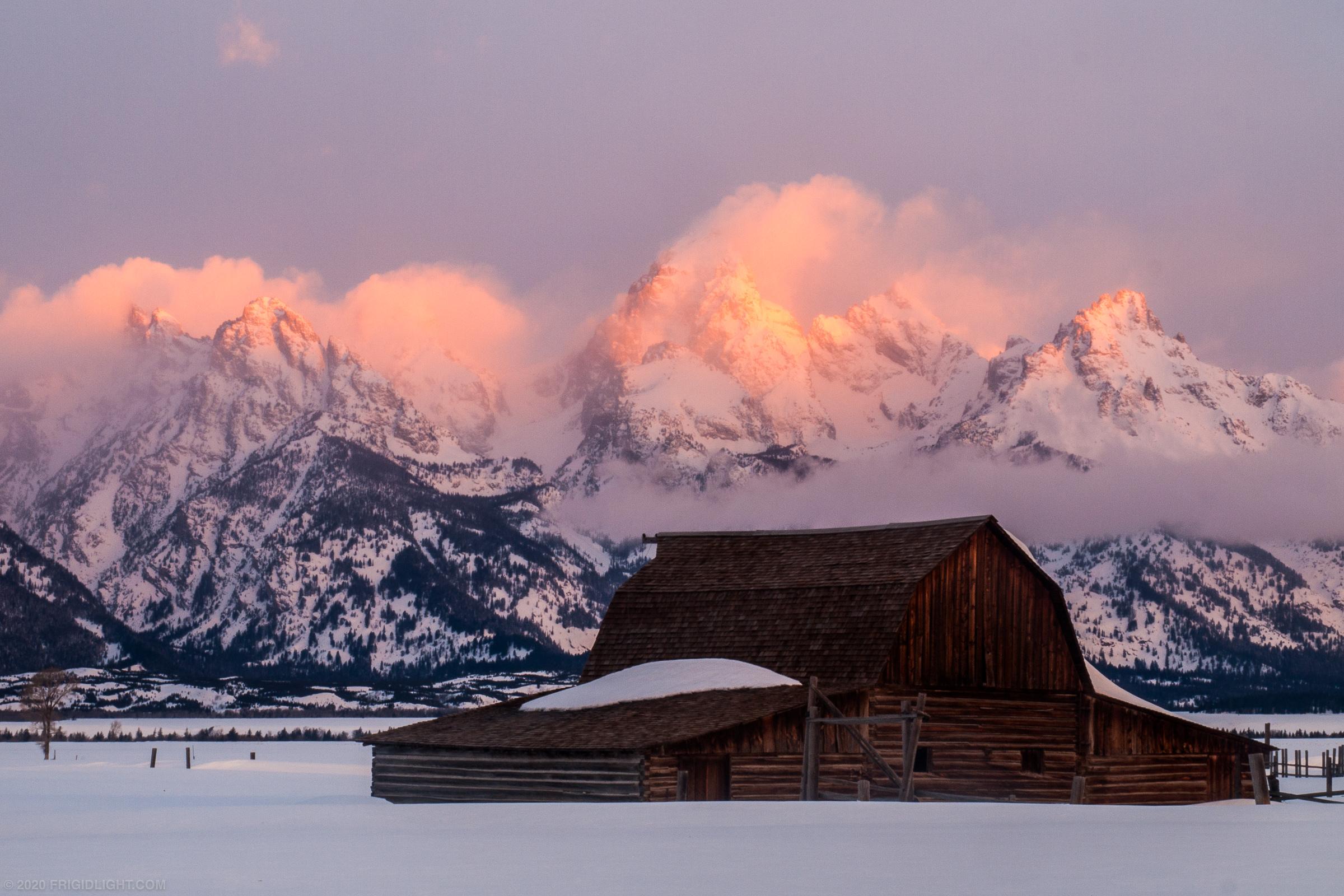 Moulton Barn Winter Sunrise