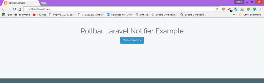 Laravel example screenshot