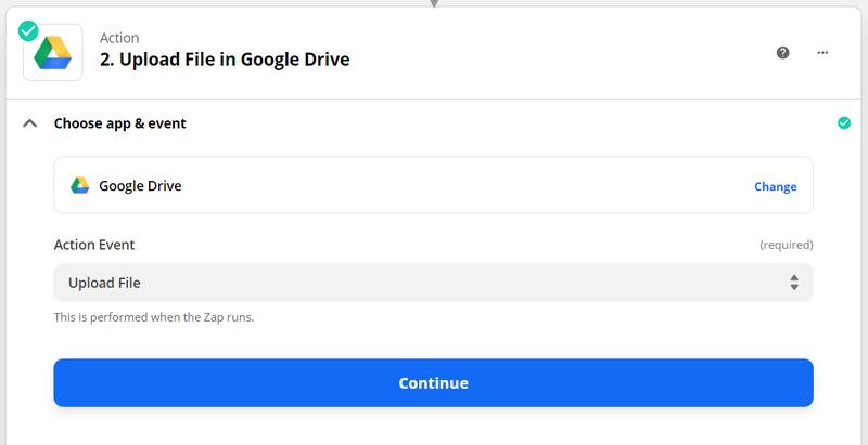 connect Google Drive to Zapier