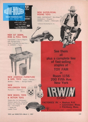 Irwin Toy Fair Ad (Toys and Novelties) (03/1967) preview
