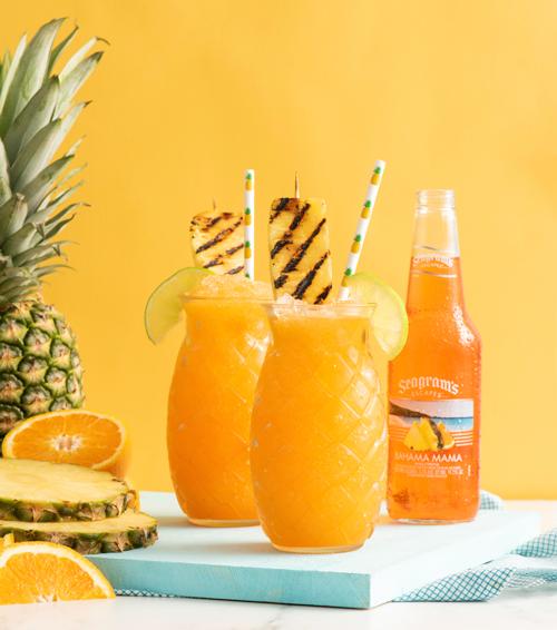 Bahama Mama Boozy Slush Recipe Image