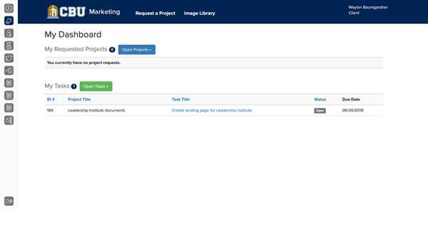 CBU Marketing Applications Project Request