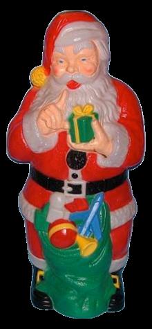 Giant Santa With Gift photo