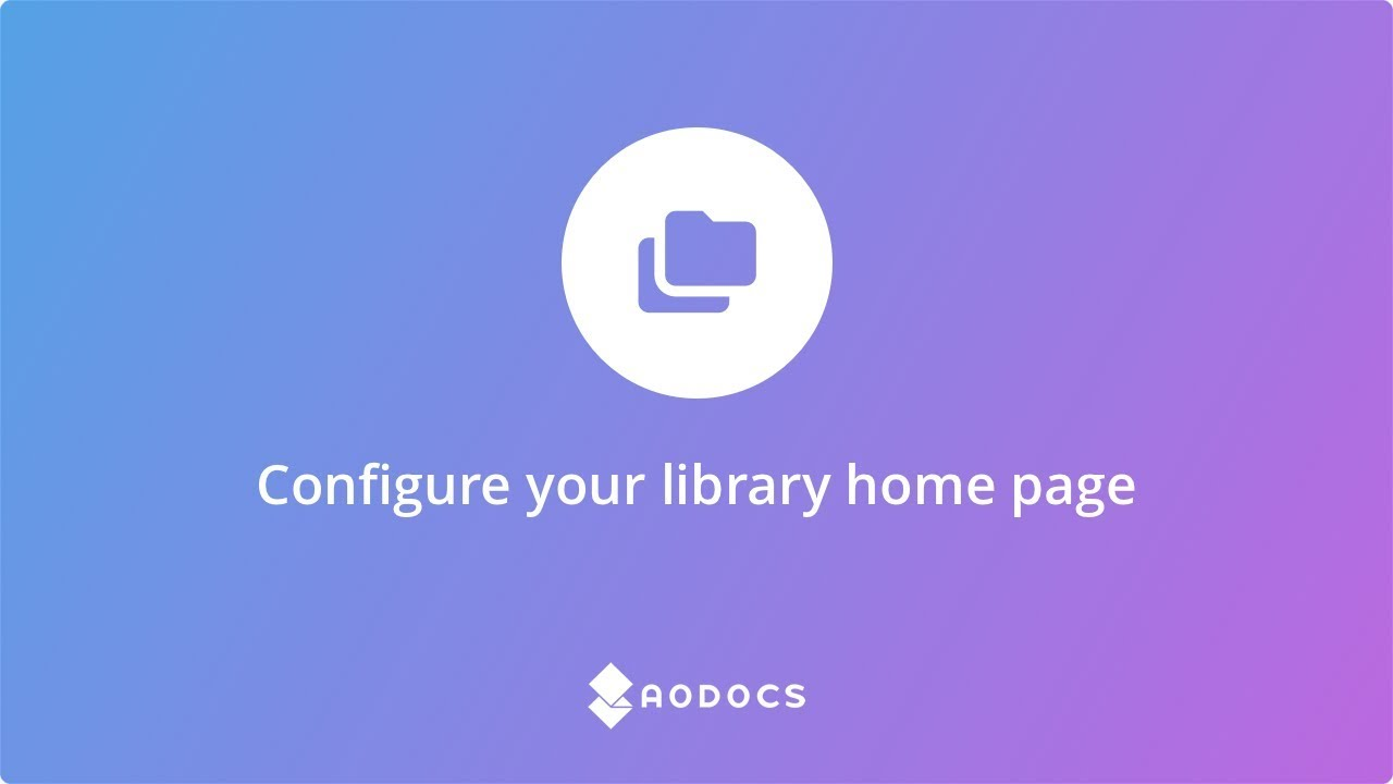Configure your library homepage's thumbnails