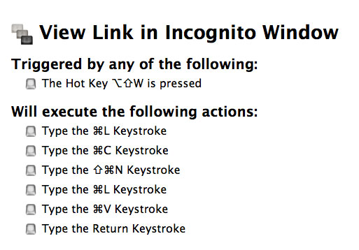View Link in Incognito Window