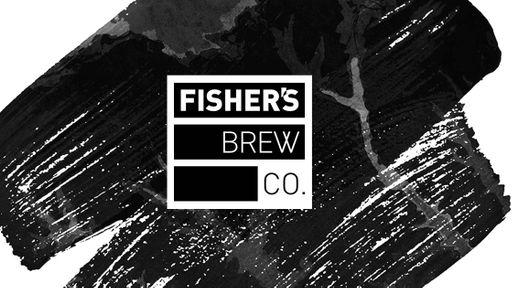 Fisher's logo and paint splash