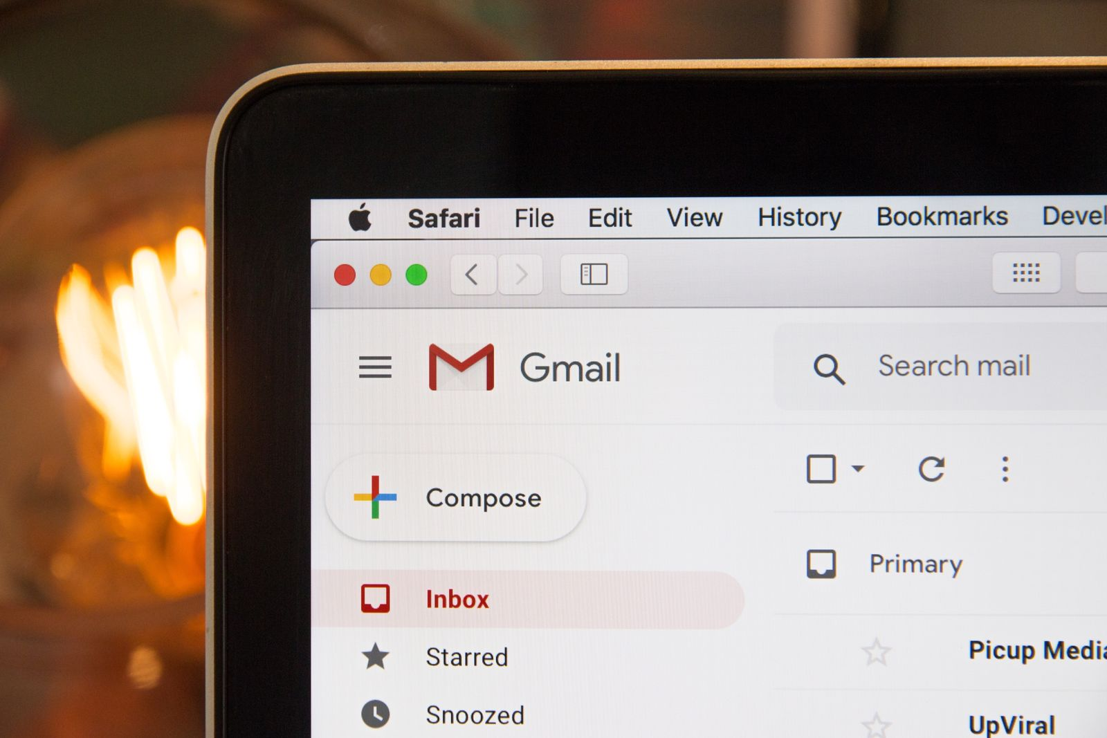 gmail email page