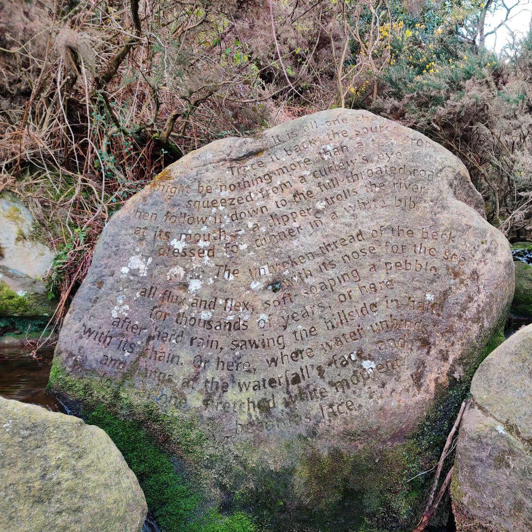 Ilkley Moor poem on rock