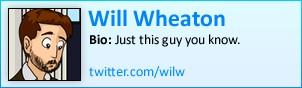 Will Wheaton on Twitter