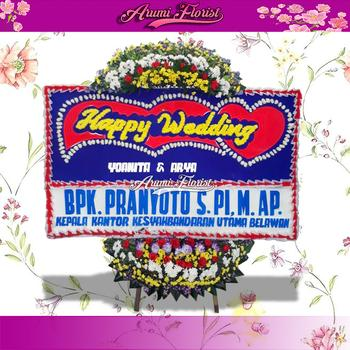 Bunga Papan Happy Wedding 26