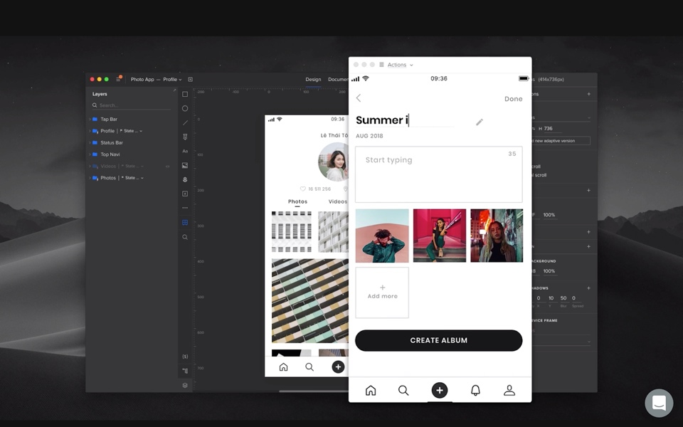 Screengrab within UXPin