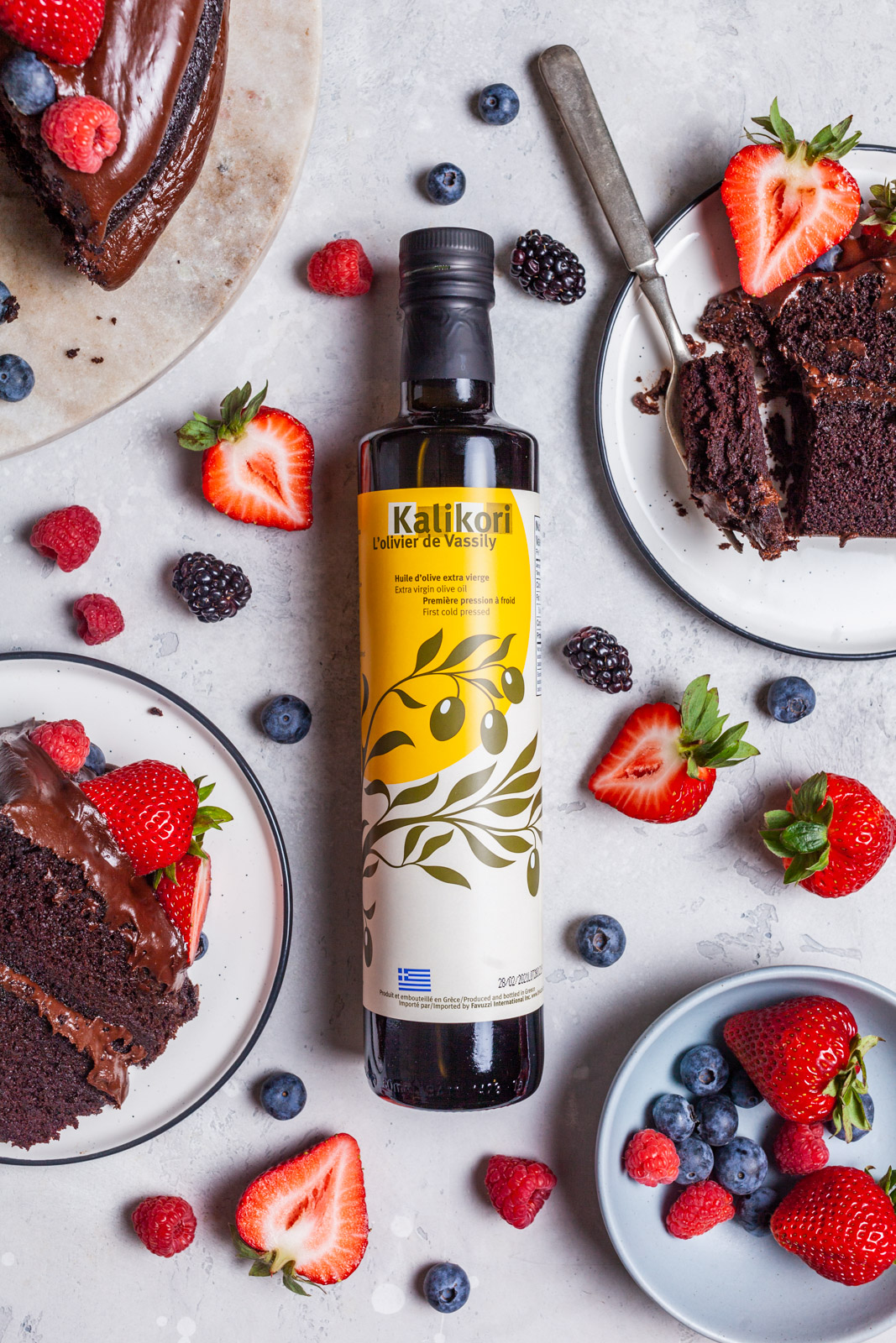 Vegan Chocolate Olive Oil Cake With Olive Oil Frosting