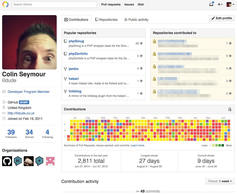 Pridified GitHub contributions graph