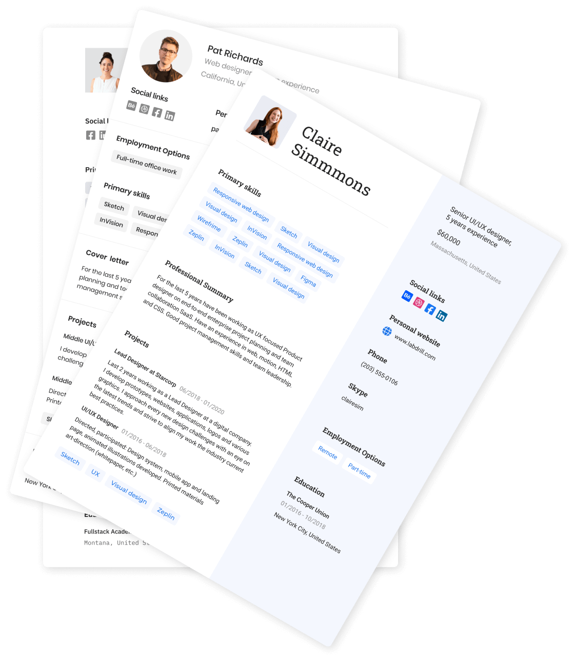 Effortlessly build your resume