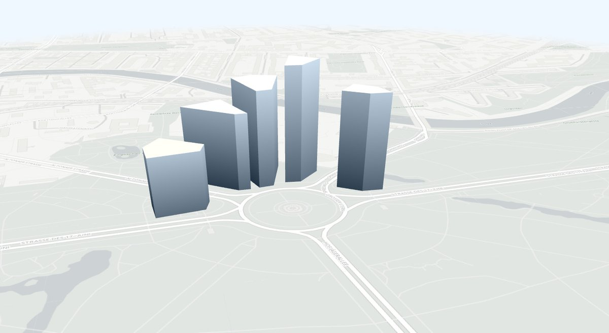 OSMBuildings basemap with buildings
