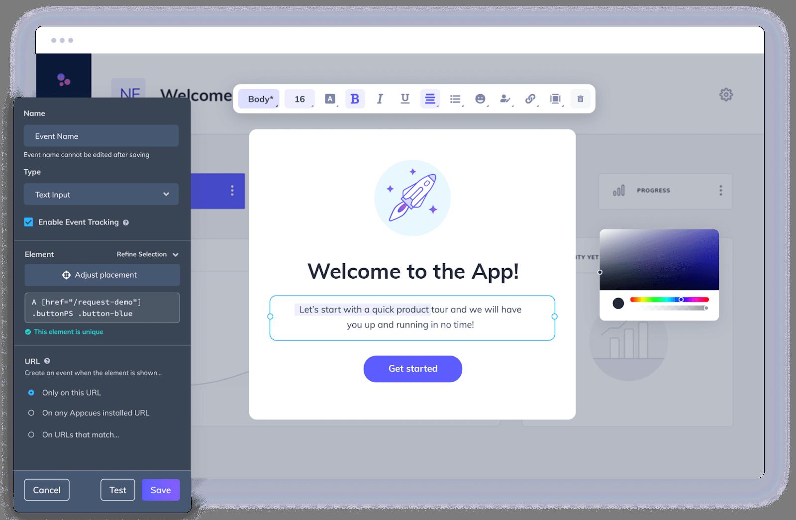 Appcues screenshot