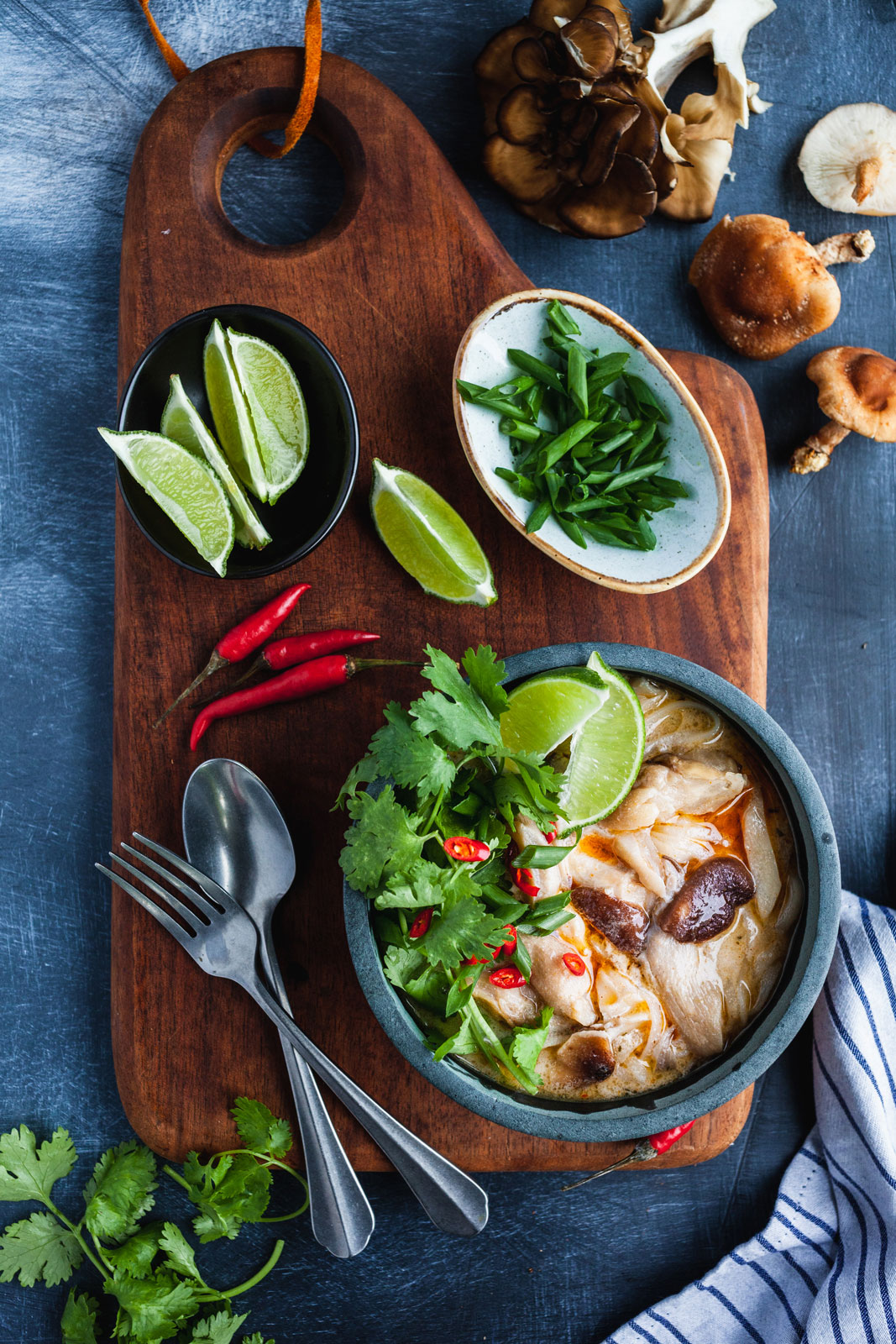 Thai Chicken Coconut And Noodles Soup