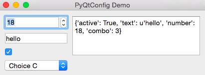 Demo of config setting with widgets #2