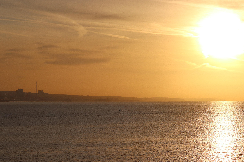Sun rising over the coast near Brighton & Hove.