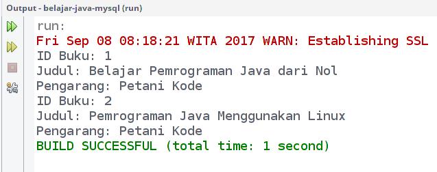 Menjalankan Program Java dan MySQL