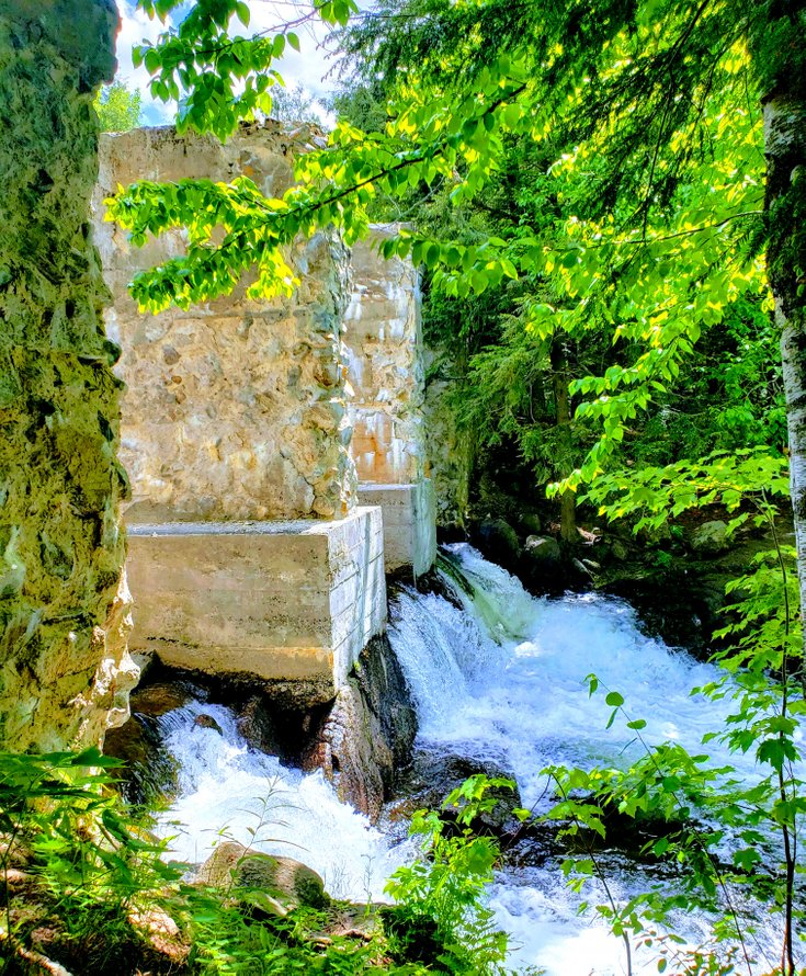 Waterfall at Carbide Willson Ruins, Quebec