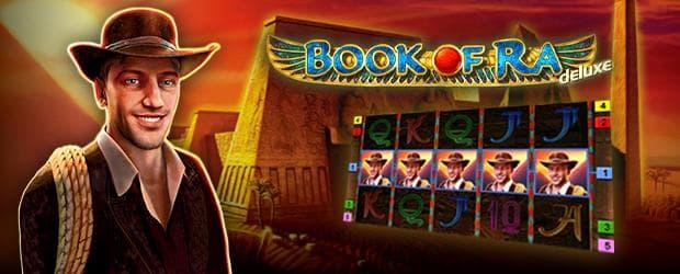 book of ra deluxe novoline slot teaser mit dem forscher, einem screenshot der slot und dem logo auf ägypten hintergrund