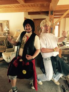 Bill and Ted at the Slopeside retreat
