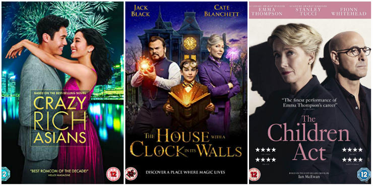 Crazy Rich Asians, The House with a Clock in its Walls, The Children Act