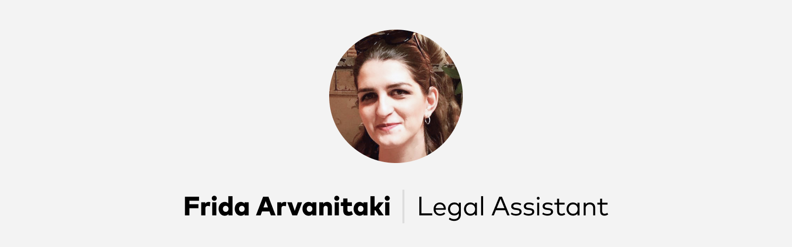 Frida Arvanitaki Legal Assistant at Pitch