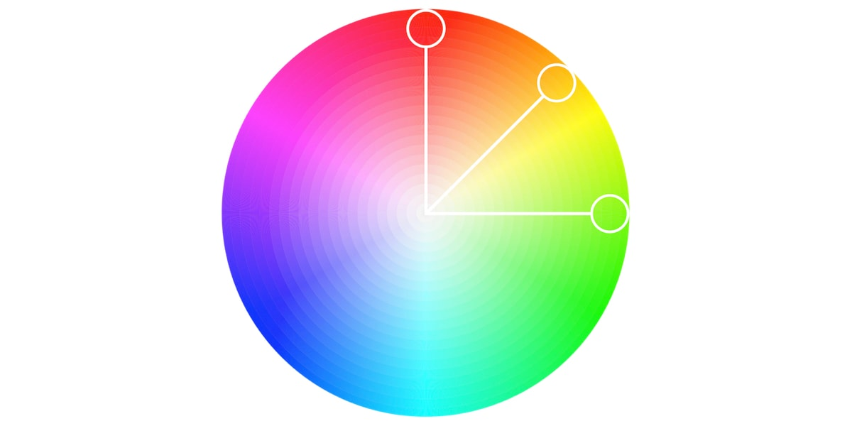 An analogous color palette