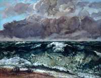 'The Wave (La Vague)' by Gustave Courbet, 1869, Musée des beaux-arts de Lyon
