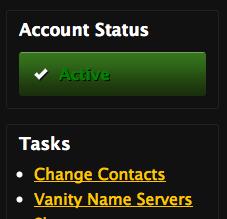 Account Status Screen