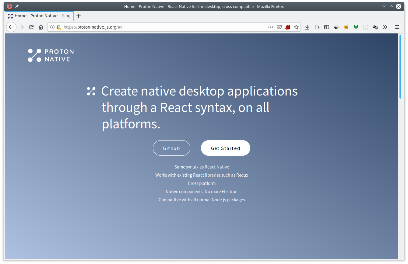 Proton Native Website