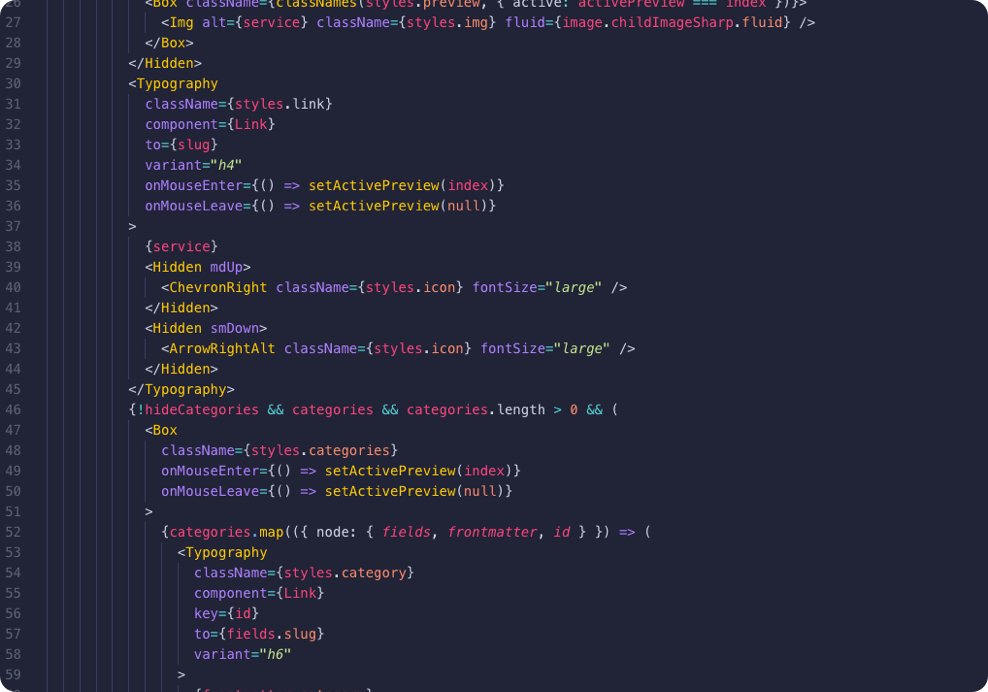 With Pulp Front End Development