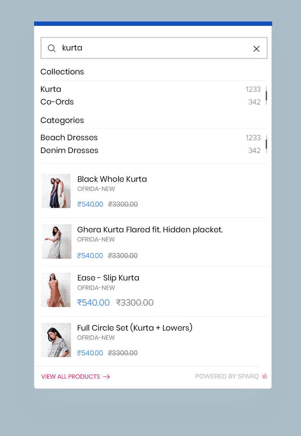Optimised Mobile UI