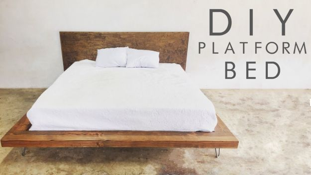 image of DIY plaform bed