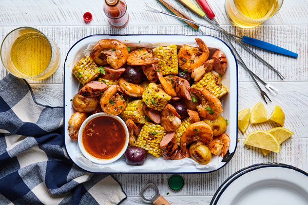 Cajun Grilled Shrimp Boil