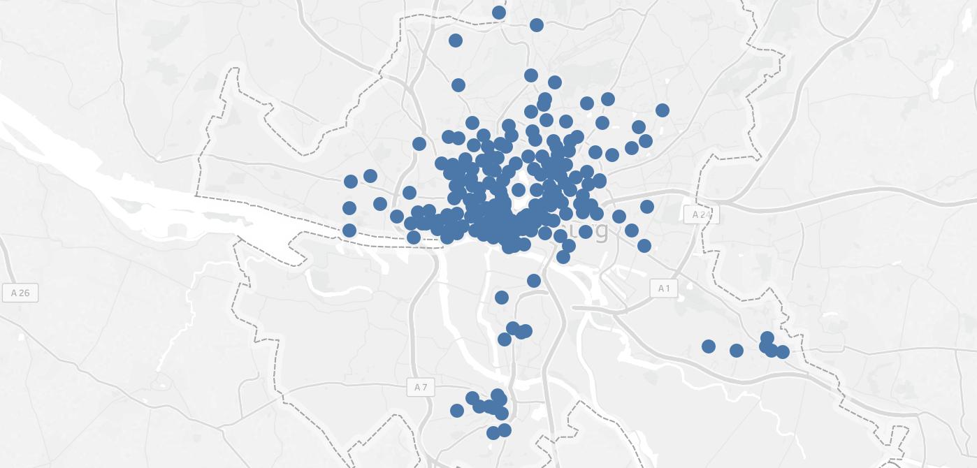 Map StadtRad Bikesharing Stations