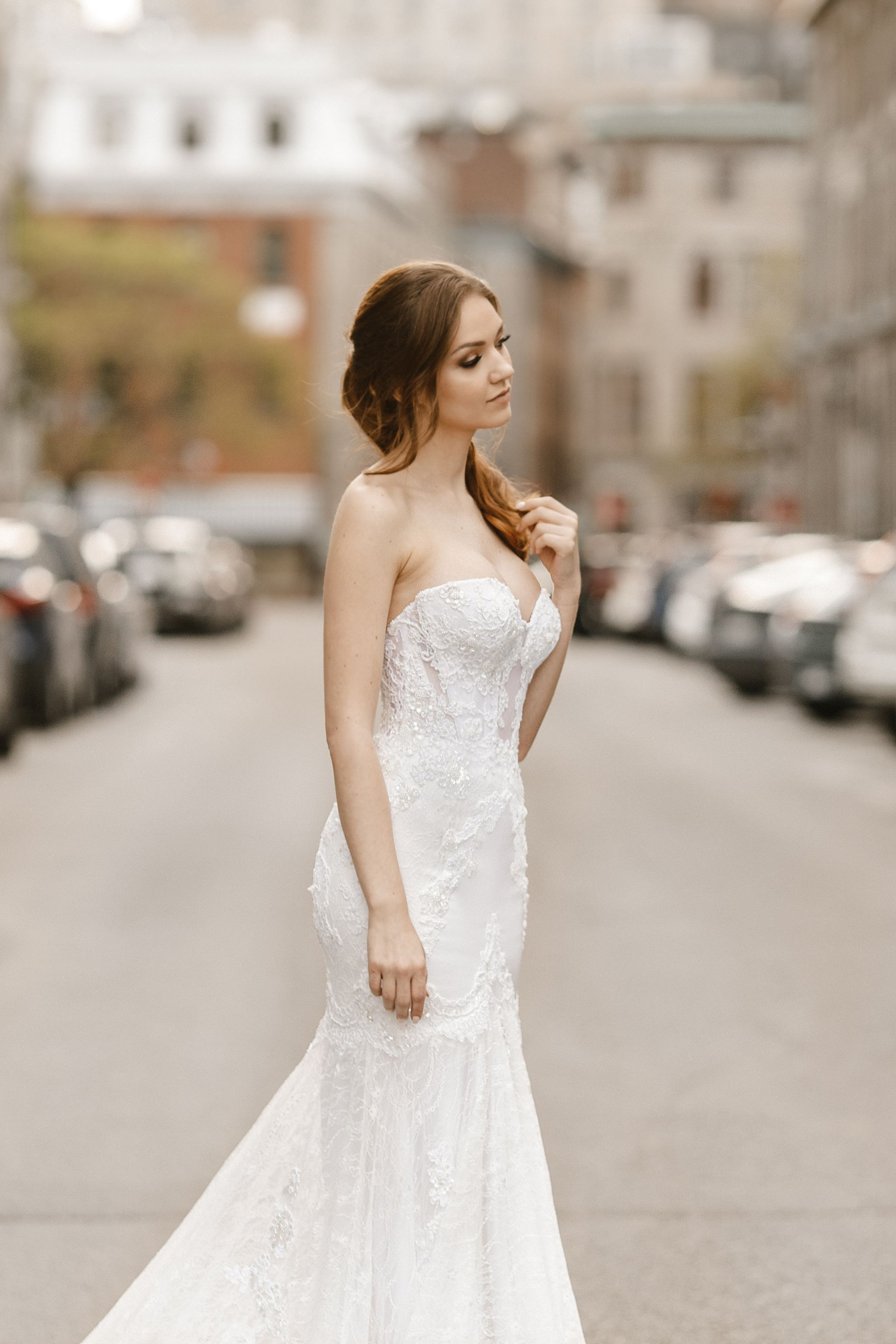 silk mermaid gown montreal lilia haute couture