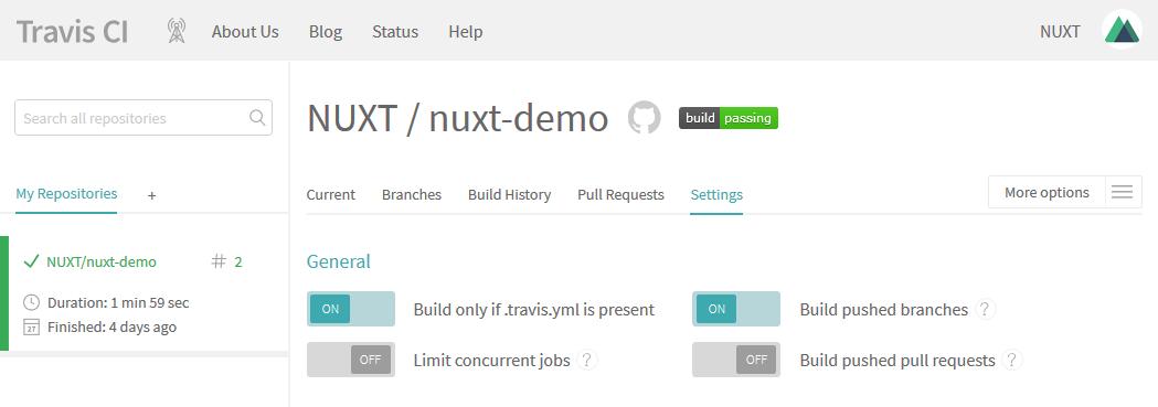 Travis Builder Server Settings