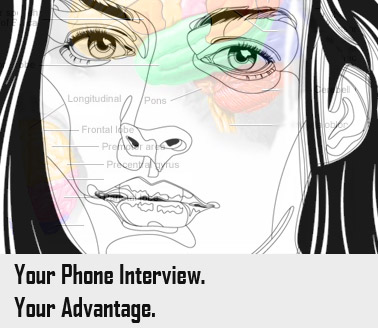 Job interview by phone image.